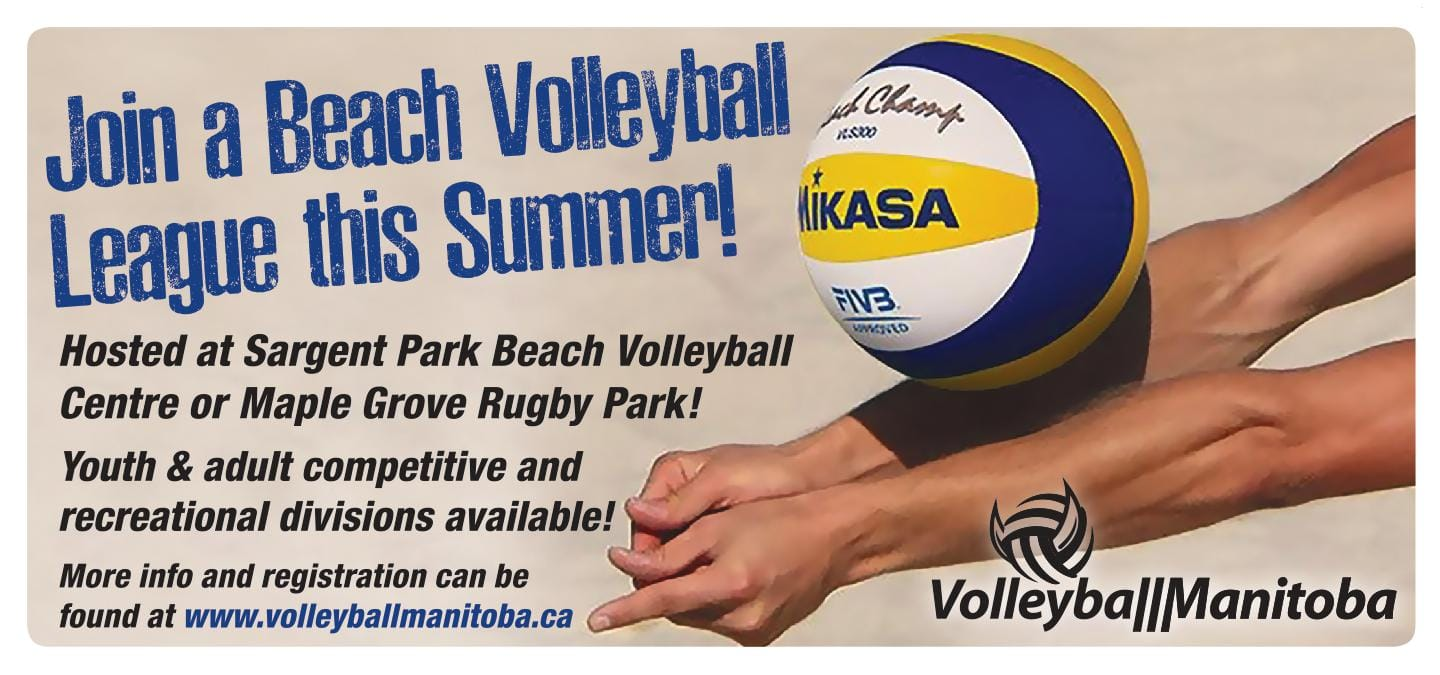 Beach Leagues Tournaments Set For Summer 2019 Volleyball Manitoba